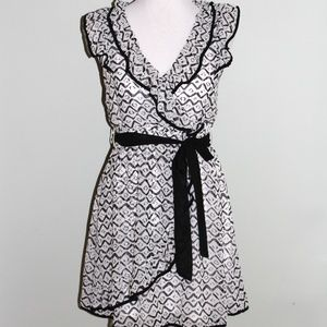 Ya Los Angeles Dress Women's Size L Black White